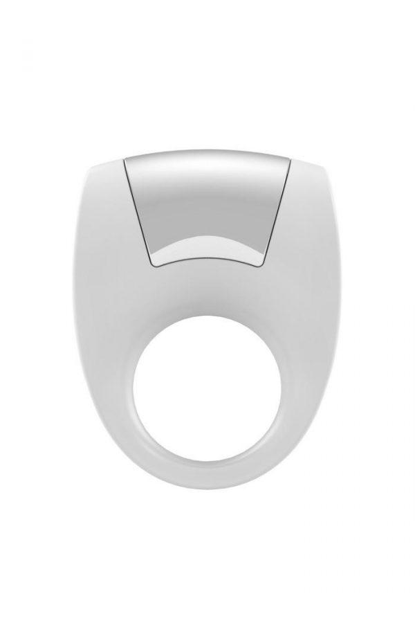 Эрекционное кольцо OVO с удобной кнопкой включения и сильной вибрацией, силиконовое, белое, Категория - Секс-игрушки/Кольца и насадки/Кольца на пенис, Атрикул 0T-00002681 Изображение 1