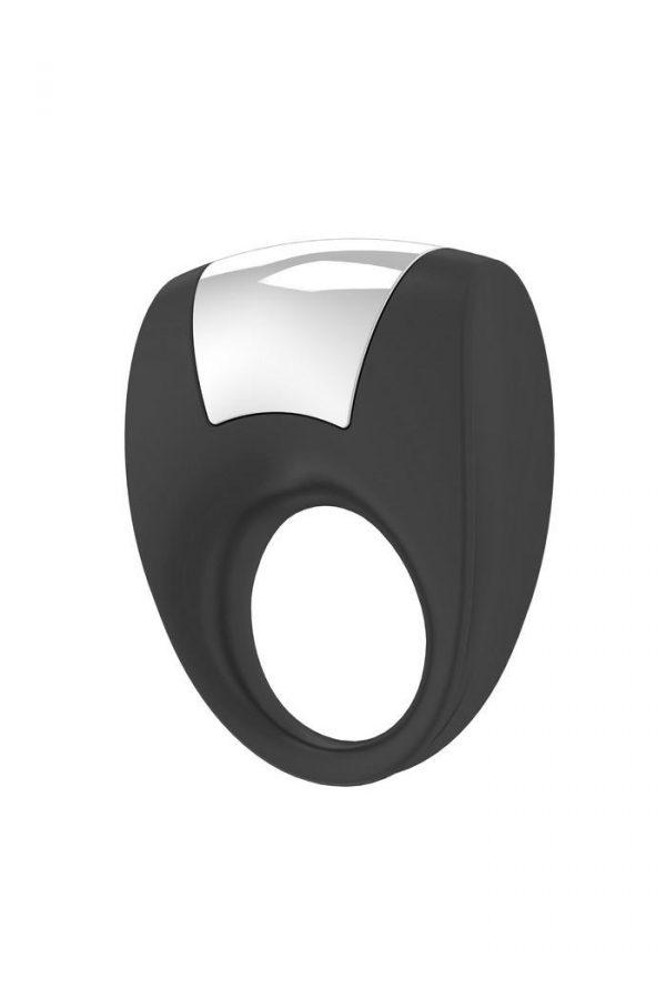 Эрекционное кольцо OVO с удобной кнопкой включения и сильной вибрацией, силиконовое, черное, Категория - Секс-игрушки/Кольца и насадки/Кольца на пенис, Атрикул 0T-00002683 Изображение 1
