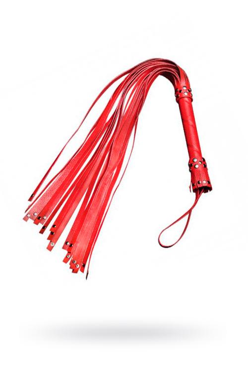 Плеть Sitabella красная 78 см,кожа, Категория - БДСМ, фетиш/Ударные девайсы/Кнуты, плети, флоггеры, Атрикул 0T-00003269 Изображение 1