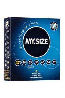 Презервативы  ''MY.SIZE'' №3 размер 47 (ширина 47mm), Категория - Презервативы/Классические презервативы, Атрикул 0T-00003535 Изображение 1