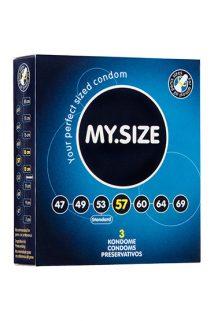 Презервативы  ''MY.SIZE'' №3 размер 57 (ширина 57mm), Категория - Презервативы/Классические презервативы, Атрикул 0T-00003538 Изображение 1