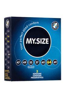 Презервативы  ''MY.SIZE'' №3 размер 64 (ширина 64mm), Категория - Презервативы/Классические презервативы, Атрикул 0T-00003540 Изображение 1