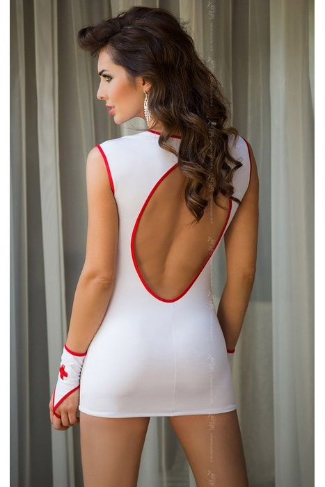 S/M Sister - Платье медсестры  белое + перчатки -S/M, Категория - Белье и одежда/Женская одежда и белье/Игровые костюмы, Атрикул 0T-00004199 Изображение 2