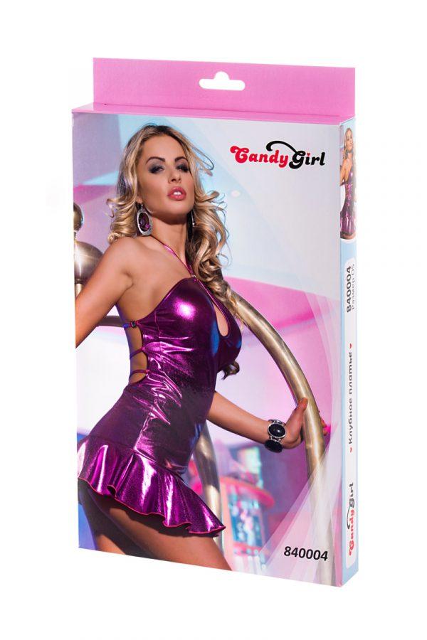 One Size Клубное платье Candy Girl с открытой спиной, фиолетовое, OS, Категория - Белье и одежда/Женская одежда и белье/Эротические платья, юбки, Атрикул 0T-00003925 Изображение 3