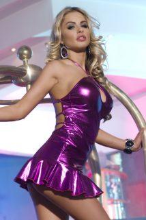 One Size Клубное платье Candy Girl с открытой спиной, фиолетовое, OS, Категория - Белье и одежда/Женская одежда и белье/Эротические платья, юбки, Атрикул 0T-00003925 Изображение 1