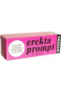 Крем возбуждающий Inverma Erekta Prompt, для женщин, 13 мл, Категория - Интимная косметика/Кремы для стимуляции и коррекции размеров/Кремы возбуждающие, Атрикул 0T-00004011 Изображение 1