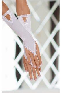 S/L Перчатки атласные белые-S/L, Категория - Белье и одежда/Аксессуары для белья и одежды/Украшения на руки, ноги, Атрикул 0T-00004205 Изображение 1