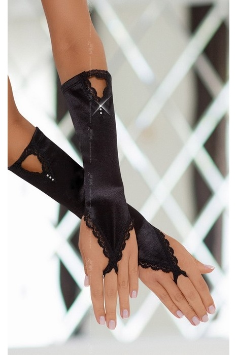 S/L Перчатки атласные черные-S/L, Категория - Белье и одежда/Аксессуары для белья и одежды/Украшения на руки, ноги, Атрикул 0T-00004204 Изображение 1