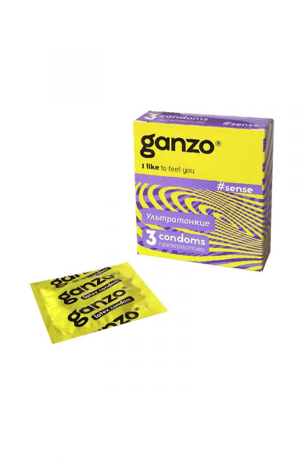 Презервативы Ganzo Sense № 3Ультратонкие -ШТ, Категория - Презервативы/Классические презервативы, Атрикул 0T-00004243 Изображение 1