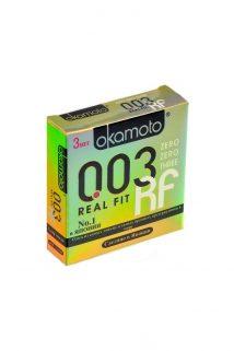 Презервативы Окамото 003 Real Fit №3  Супер тонкие особой облегающей формы -ШТ, Категория - Презервативы/Классические презервативы, Атрикул 0T-00004507 Изображение 1