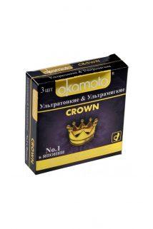 Презервативы Окамото Crown №3  Ультратонкие и ультрамягкие -ШТ, Категория - Презервативы/Классические презервативы, Атрикул 0T-00004510 Изображение 1