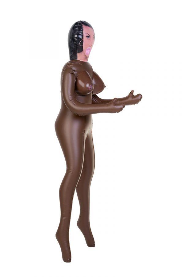 Кукла надувная, Michelle, негритянка, TOYFA Dolls-X,  с тремя отверстиями, 160 см, Категория - Секс-игрушки/Секс куклы/Женщины, Атрикул 0T-00004742 Изображение 3