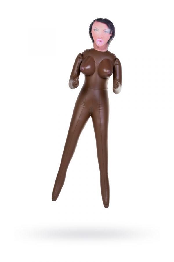 Кукла надувная, Michelle, негритянка, TOYFA Dolls-X,  с тремя отверстиями, 160 см, Категория - Секс-игрушки/Секс куклы/Женщины, Атрикул 0T-00004742 Изображение 1