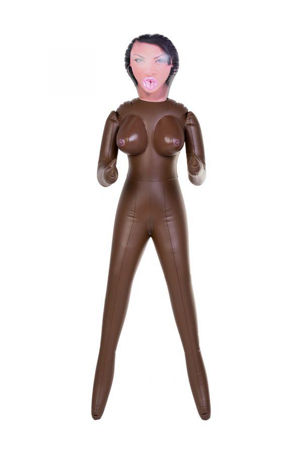 Кукла надувная, Michelle, негритянка, TOYFA Dolls-X,  с тремя отверстиями, 160 см, Категория - Секс-игрушки/Секс куклы/Женщины, Атрикул 0T-00004742 Изображение 2