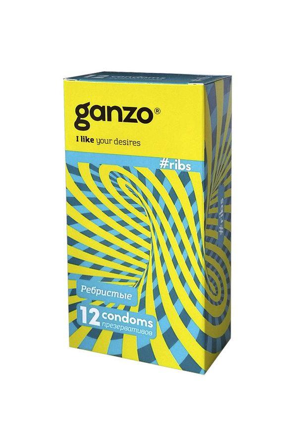 Презервативы Ganzo Ribs № 12Ребристые,ШТ, Категория - Презервативы/Классические презервативы, Атрикул 0T-00004881 Изображение 1