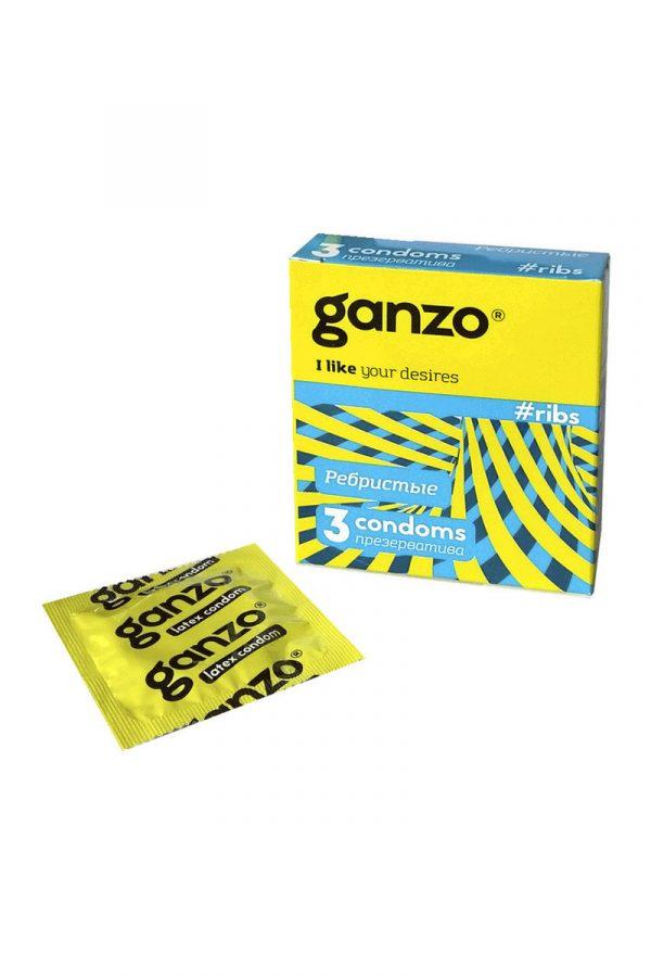 Презервативы Ganzo Ribs № 3Ребристые,   ШТ, Категория - Презервативы/Классические презервативы, Атрикул 0T-00004880 Изображение 1