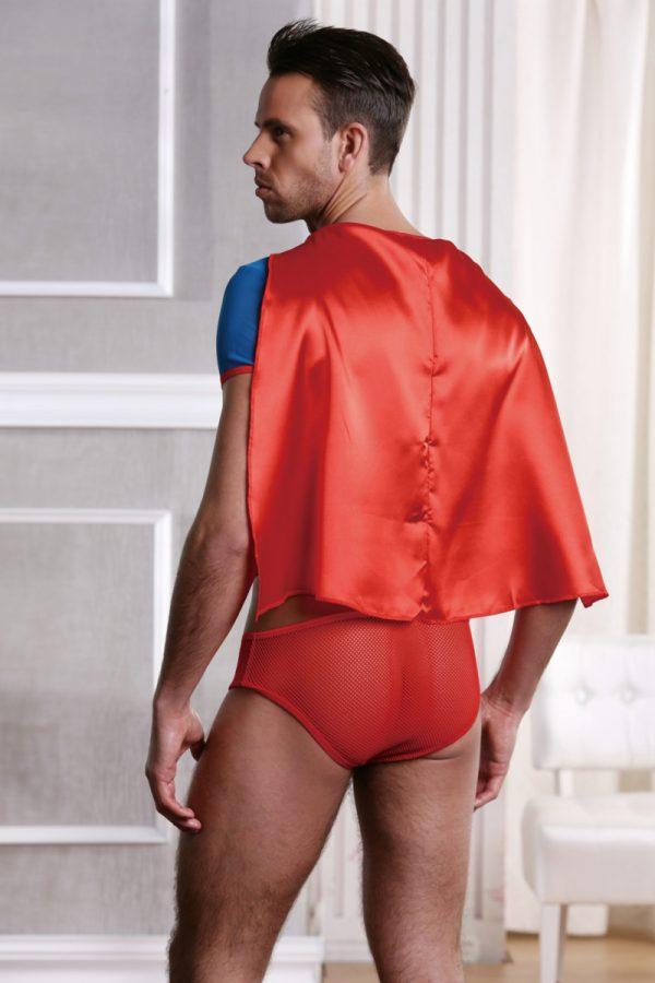 One Size Костюм супермена Candy Boy (футболка с плащем, трусы), красно-голубой, OS, Категория - Белье и одежда/Мужская одежда и белье/Игровые костюмы, Атрикул 0T-00005012 Изображение 2