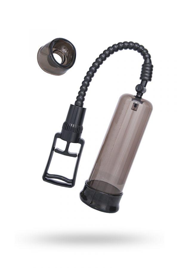 Помпа для пениса Sexus Men Training, вакуумная, механическая, ABS пластик, чёрный, 22 см, Категория - Секс-игрушки/Помпы/Помпы для пениса, Атрикул 0T-00004958 Изображение 1