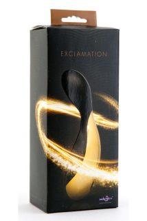 Вибратор Exclamation черно-золотистый, Категория - Секс-игрушки/Вибраторы/Нереалистичные вибраторы, Атрикул 0T-00005350 Изображение 1