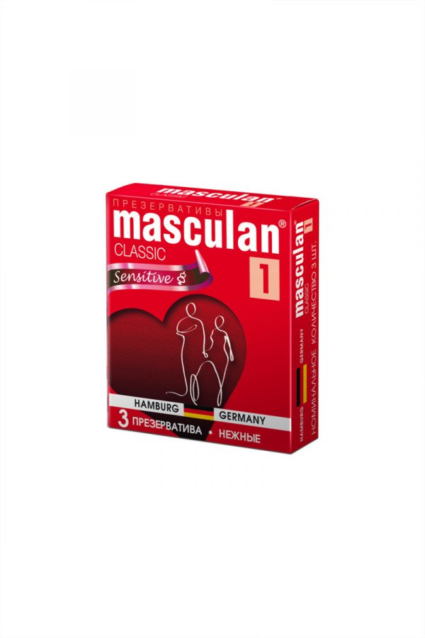Презервативы Masculan Classic 1,  3 шт.  Нежные (Senitive) ШТ, Категория - Презервативы/Классические презервативы, Атрикул 0T-00005537 Изображение 2