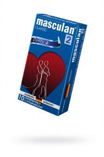Презервативы Masculan Classic 2,  10 шт.  С пупырышками (Dotty)  ШТ, Категория - Презервативы/Рельефные и фантазийные презервативы, Атрикул 0T-00005542 Изображение 1
