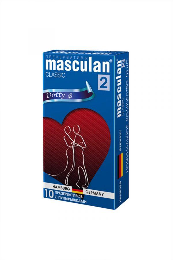 Презервативы Masculan Classic 2,  10 шт.  С пупырышками (Dotty)  ШТ, Категория - Презервативы/Рельефные и фантазийные презервативы, Атрикул 0T-00005542 Изображение 2