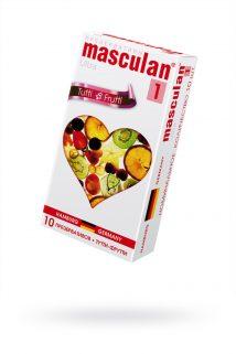Презервативы Masculan Ultra 1,  10шт.  Тутти-Фрутти (Tutti-Frutti) ШТ, Категория - Презервативы/Классические презервативы, Атрикул 0T-00005549 Изображение 1
