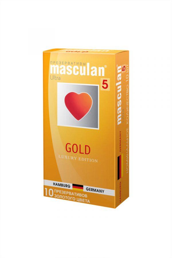 Презервативы Masculan 5 Ultra Золотого цвета, 10шт, Категория - Презервативы/Классические презервативы, Атрикул 0T-00005553 Изображение 2