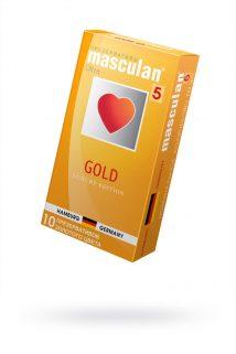 Презервативы Masculan 5 Ultra Золотого цвета, 10шт, Категория - Презервативы/Классические презервативы, Атрикул 0T-00005553 Изображение 1