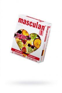 Презервативы Masculan Ultra 1,  3 шт.  Тутти-Фрутти (Tutti-Frutti)  ШТ, Категория - Презервативы/Классические презервативы, Атрикул 0T-00005545 Изображение 1