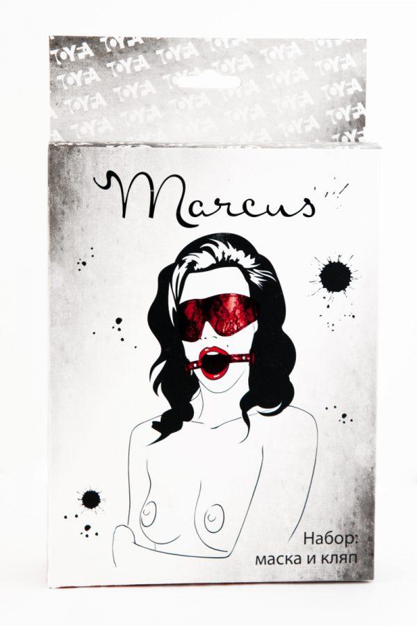 Кружевной набор TOYFA Marcus красный: маска и кляп, Категория - БДСМ, фетиш/БДСМ наборы и комплекты, Атрикул 0T-00005465 Изображение 2