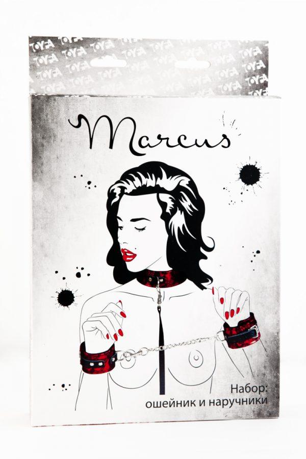 Кружевной набор TOYFA Marcus красный : ошейник и наручники, Категория - БДСМ, фетиш/БДСМ наборы и комплекты, Атрикул 0T-00005463 Изображение 2