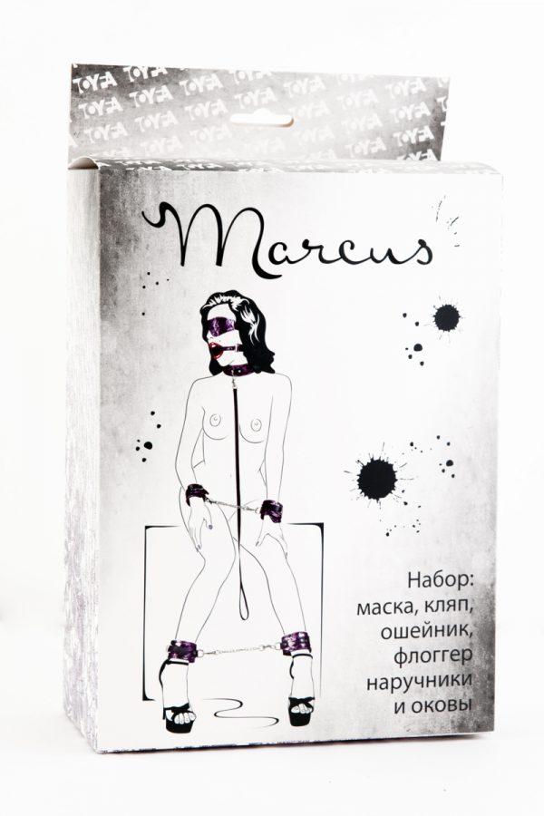 Кружевной наборTOYFA Marcus  пурпурный : маска, наручники, оковы, ошейник, флоггер, кляп, Категория - БДСМ, фетиш/БДСМ наборы и комплекты, Атрикул 0T-00005493 Изображение 2