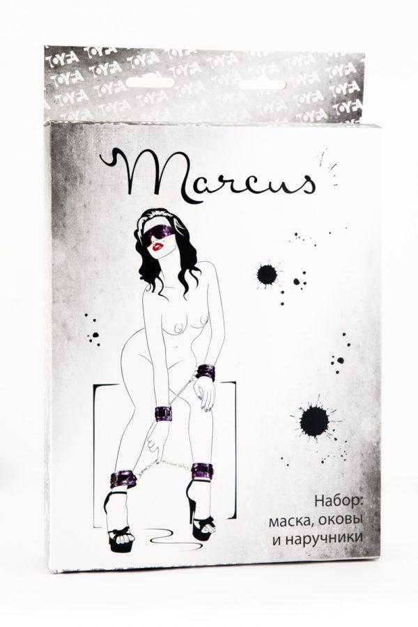 Кружевной набор TOYFA Marcus пурпурный:наручники, оковы и маска, Категория - БДСМ, фетиш/БДСМ наборы и комплекты, Атрикул 0T-00005488 Изображение 2