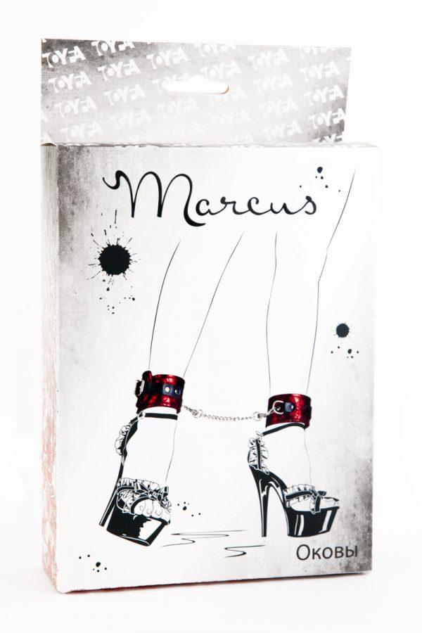 Кружевные поножи TOYFA Marcus красные, 46 см., Категория - БДСМ, фетиш/Фиксация и бондаж/Оковы и поножи, Атрикул 0T-00005461 Изображение 3
