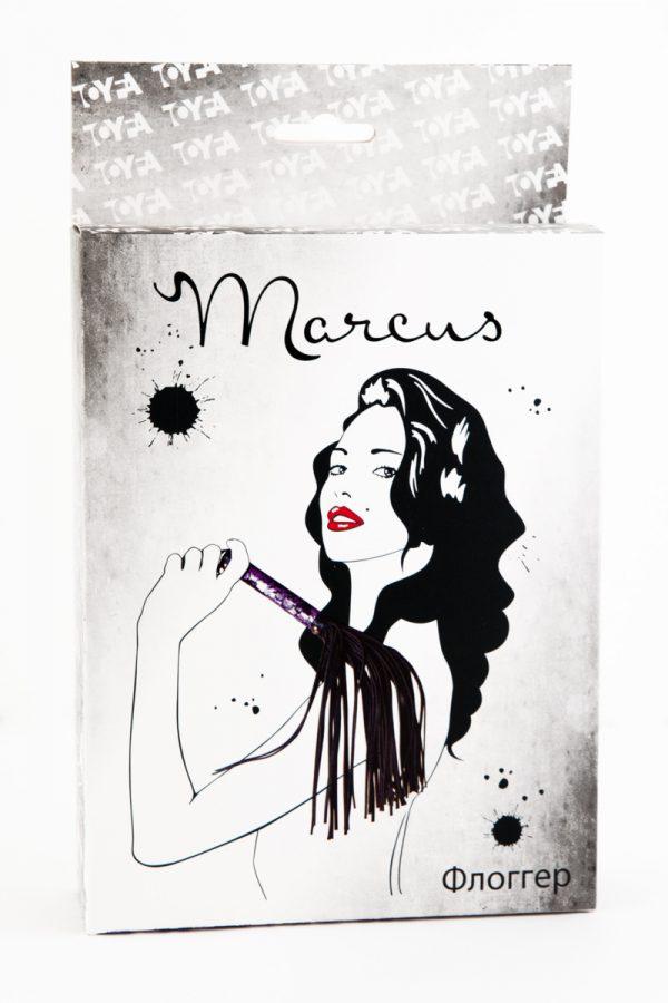 Флоггер с кружевной ручкой TOYFA Marcus пурпурный, 38 см, Категория - БДСМ, фетиш/Ударные девайсы/Кнуты, плети, флоггеры, Атрикул 0T-00005447 Изображение 2