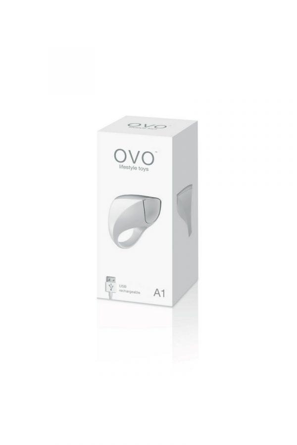 Эрекционное кольцо OVO инновационной формы с вибрацией, перезаряжаемое, силиконовое, белое, 4,7 см, Категория - Секс-игрушки/Кольца и насадки/Кольца на пенис, Атрикул 0T-00005410 Изображение 2