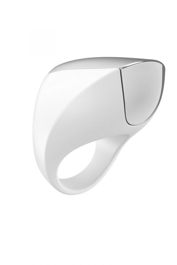 Эрекционное кольцо OVO инновационной формы с вибрацией, перезаряжаемое, силиконовое, белое, 4,7 см, Категория - Секс-игрушки/Кольца и насадки/Кольца на пенис, Атрикул 0T-00005410 Изображение 1
