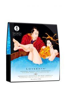 Гель для ванны Shunga «Океан соблазнов», голубой, 650 г, Категория - Интимная косметика/Косметика для ванны и душа/Релакс-средства, Атрикул 0T-00005969 Изображение 1