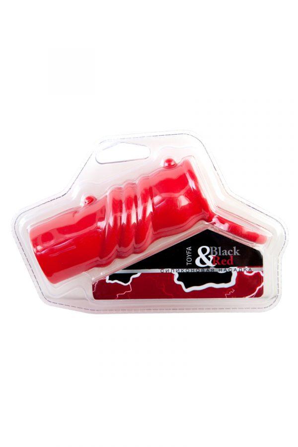 Насадка силиконовая, красная, Категория - Секс-игрушки/Кольца и насадки/Насадки на пенис, Атрикул 0T-00006023 Изображение 3