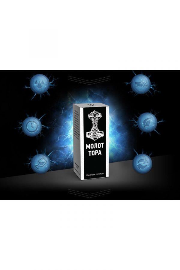 Капли для потенции ''Молот Тора'' 10мл, Категория - БАДы/БАДы для мужчин, Атрикул 0T-00006116 Изображение 1