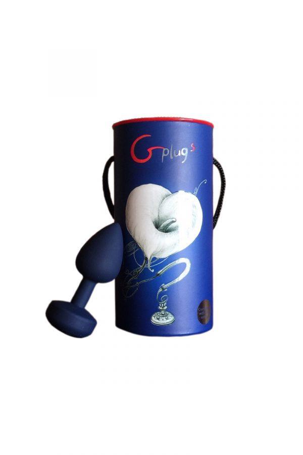 Маленькая дизайнерская анальная пробка с вибрацией Fun Toys Gplug синяя, Категория - Секс-игрушки/Анальные игрушки/Анальные пробки и втулки, Атрикул 0T-00006628 Изображение 1
