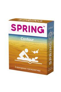 Презервативы SPRING CONTOUR - контурные, №3 ШТ, Категория - Презервативы/Классические презервативы, Атрикул 0T-00007138 Изображение 1