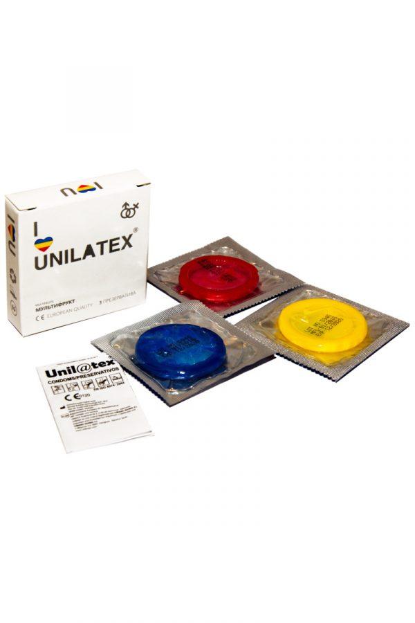 Презервативы Unilatex Multifrutis №3  ароматизированные ,цветные, Категория - Презервативы/Классические презервативы, Атрикул 0T-00007256 Изображение 2
