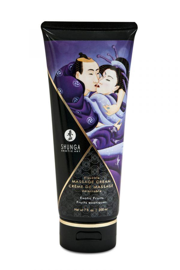 Массажный крем Shunga, съедобный, со вкусом экзотических вруктов, 200 мл, Категория - Интимная косметика/Средства для массажа/Гели и масла, Атрикул 0T-00007689 Изображение 1