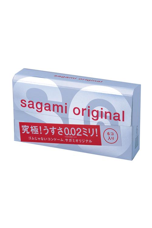 Презервативы Sagami Original 0.02  УЛЬТРАТОНКИЕ,гладкие №6, Категория - Презервативы/Классические презервативы, Атрикул 0T-00007862 Изображение 1