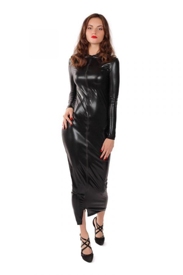 S/M Платье на молнии MENSDREAMS, черное, S-M, Категория - Белье и одежда/Женская одежда и белье/Эротические платья, юбки, Атрикул 0T-00007913 Изображение 2