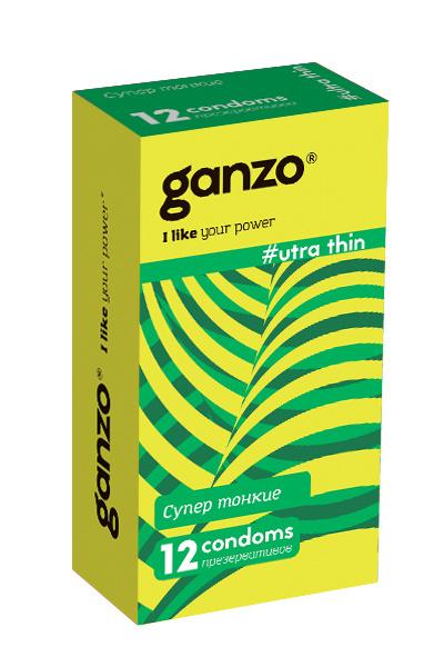 Презервативы Ganzo Ultra thine № 12Ультра тонкие  ШТ, Категория - Презервативы/Классические презервативы, Атрикул 0T-00008000 Изображение 1