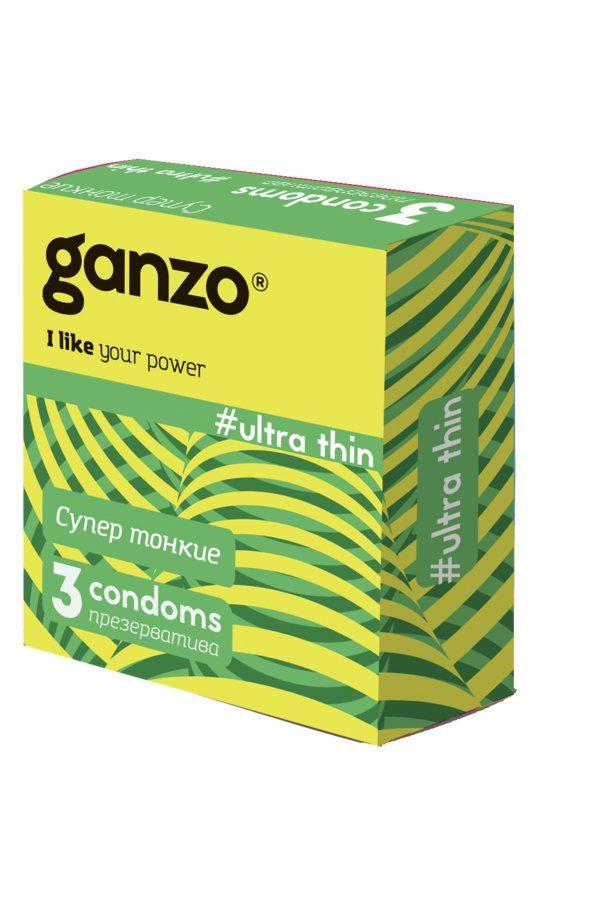 Презервативы Ganzo Ultra thine № 3Ультра тонкие  ШТ, Категория - Презервативы/Классические презервативы, Атрикул 0T-00007999 Изображение 1