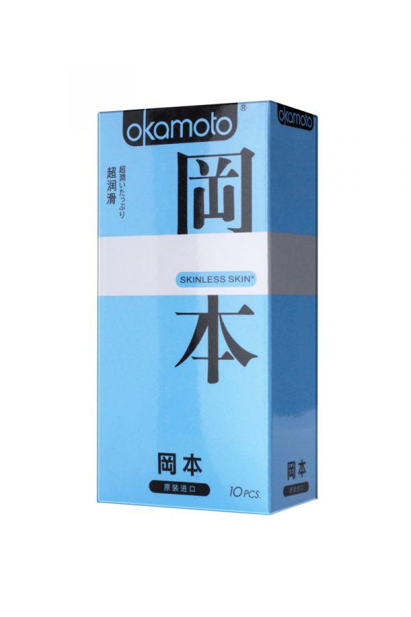 Презервативы Окамото серия Skinless Skin  Super lubricative  № 10 С двойной смазкой, Категория - Презервативы/Классические презервативы, Атрикул 0T-00008085 Изображение 1